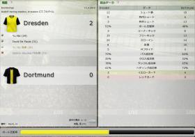 Dresden 対 Dortmund (分割画面)