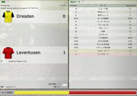 Dresden 対 Leverkusen (分割画面)