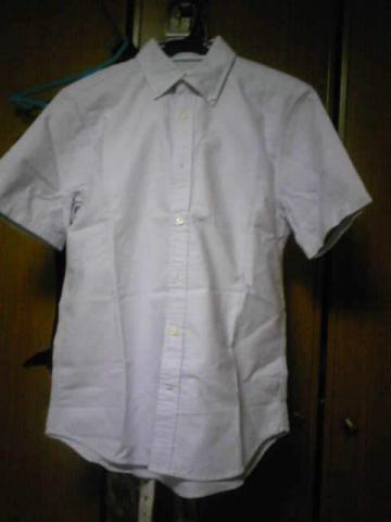 ラベンダー色っぽいボタンダウンシャツ