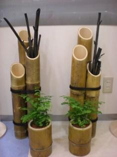 竹灯籠のオブジェ