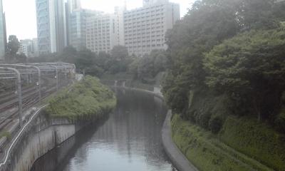 お茶の水橋から順天堂方面を望む