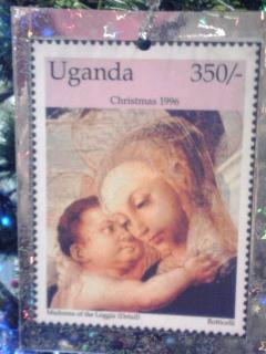 聖母子切手