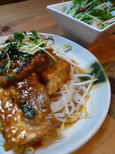 肉巻き豆腐ステーキ