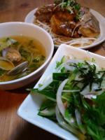 あさりと野菜のスープ