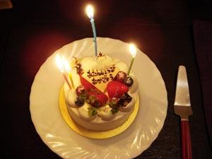 誕生日ケーキ2009