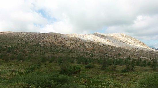 国道292号線(志賀草津道路)から観た白根山(標高2161m)
