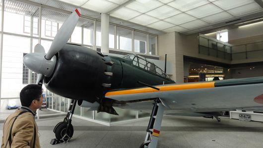 遊就館・新館に展示される零式艦上戦闘機
