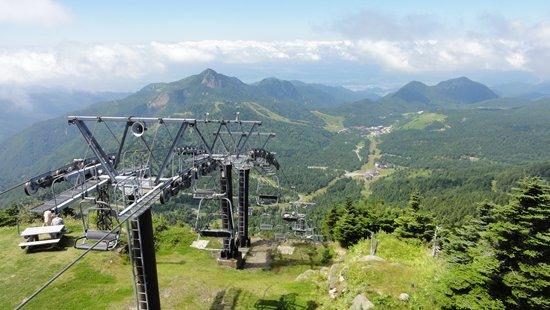 横手山頂上から笠ヶ岳方向を望む