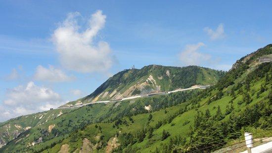 国道292号線(志賀草津道路)から観た横手山全景