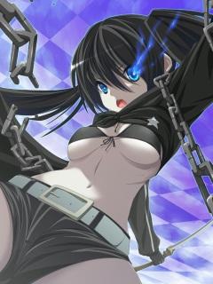 待ち受け-ブラック☆ロックシューター