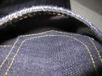 コインポケット下部縫製