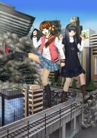 街破壊巨大少女幻想15