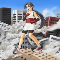 街破壊巨大少女幻想11