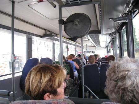 乗せられたバス