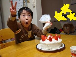 クリスマス会はっちゃんケーキ