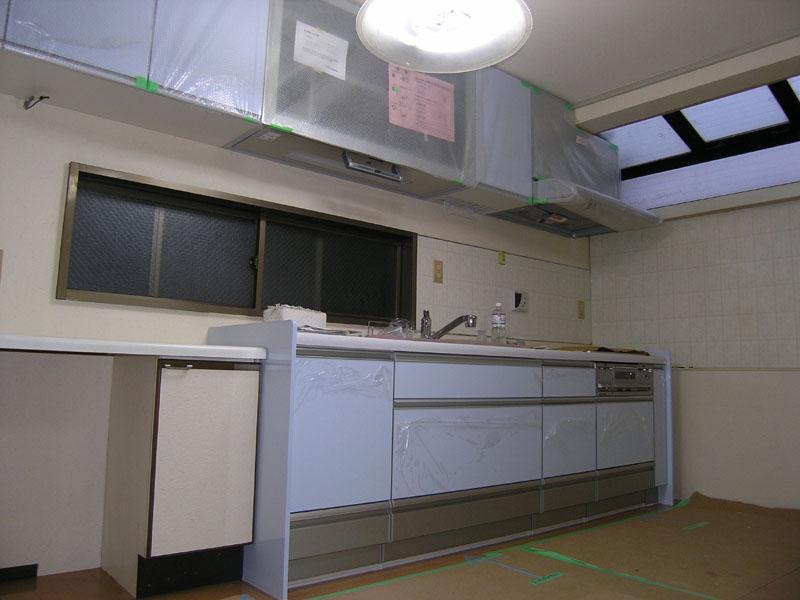 新設キッチン