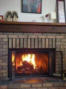 4月だけど暖炉