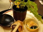蟹 水菜煮浸し