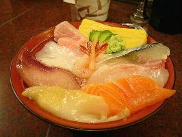 海鮮どんぶり(上)