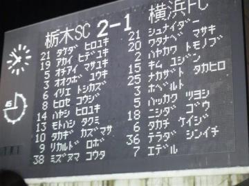 試合のスコアは無情にも栃木の勝利を示している・・・