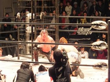 メイン終了後の葛西選手のマイクアピール。「日本は負けない!」と力強く宣言。