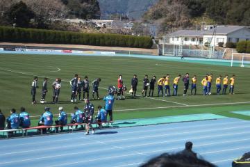 2月11日の延岡でのプレシーズンマッチ(vs仙台)試合前の写真