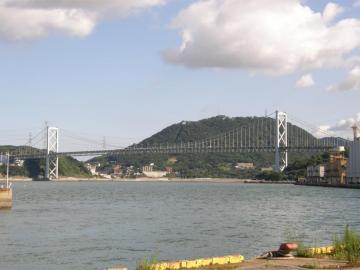関門橋の全景