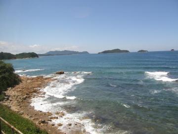 第1ビューポイント(小串~湯玉間)からの響灘の光景
