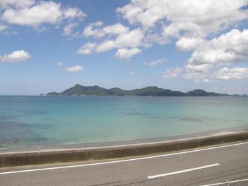 第3ビューポイント(黄波戸~長門市間)からの青海島の光景
