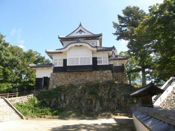 備中松山城の天守閣の全景