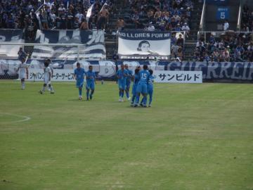 高地の先制点で意気上がる横浜FCイレブンだったが。