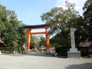 宇佐神宮の入口にある大鳥居