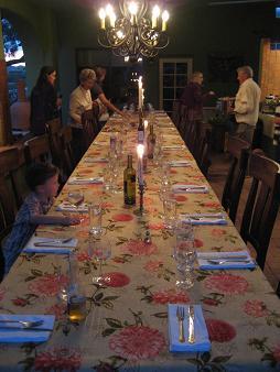 セットされたテーブル