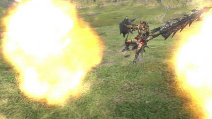 横薙ぎ&連撃砲