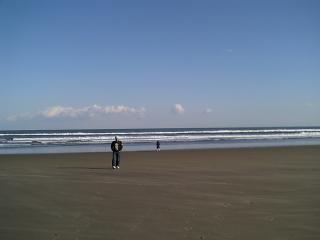 九十九里浜パパと娘1