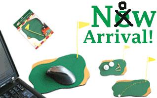 グリーン型マウスパッド