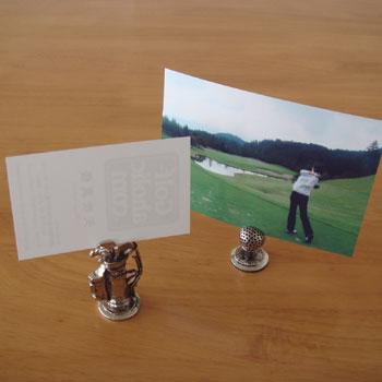 ゴルフボール&キャディバッグ カードホルダー !