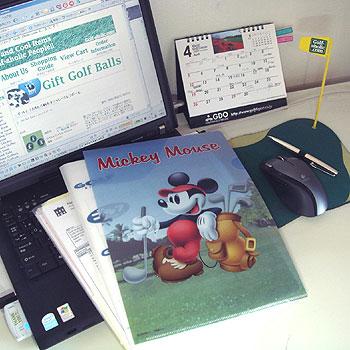 ゴルファーミッキー!クリアファイル!