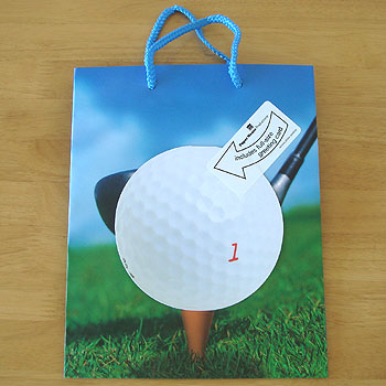 ゴルフ!ギフトバッグ&カード!
