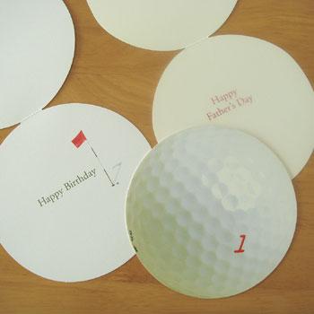 ゴルフボール グリーティングカード!