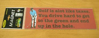 ゴルフ マグネットステッカー