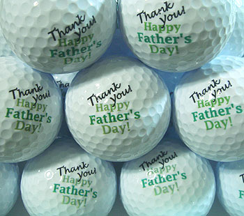 父の日 ゴルフボール!