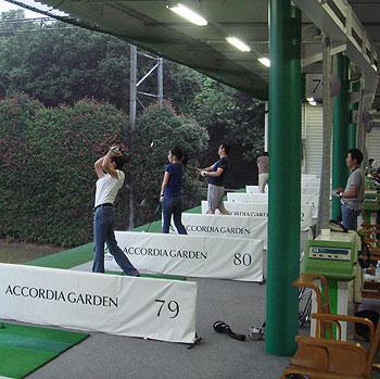 アコーディアゴルフガーデンで練習