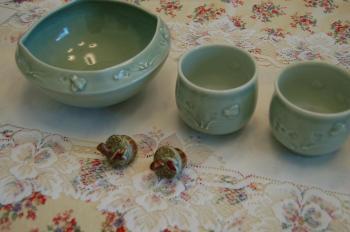 オハイオの陶器Peachblow Pottery