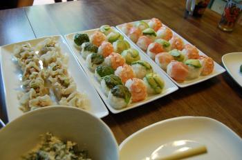 手まり寿司とシュウマイ
