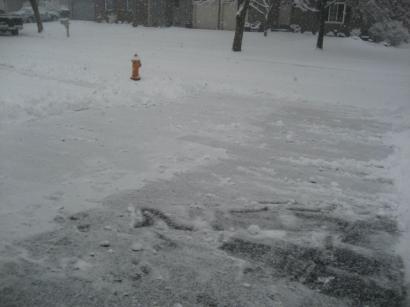 雪かきした後