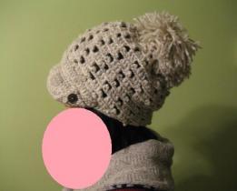 かぎ針編みで帽子