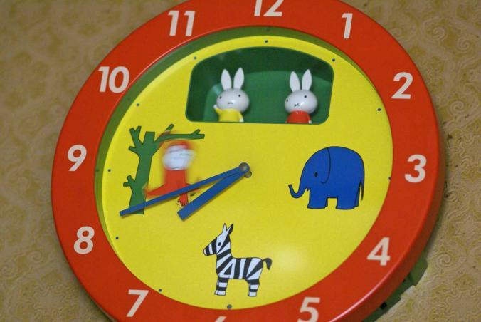ミッフィ時計