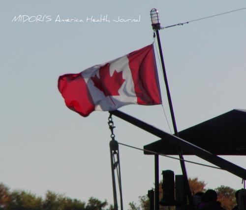 カナダの遊覧船 国旗