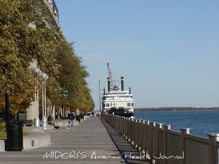 デトロイト川と汽船